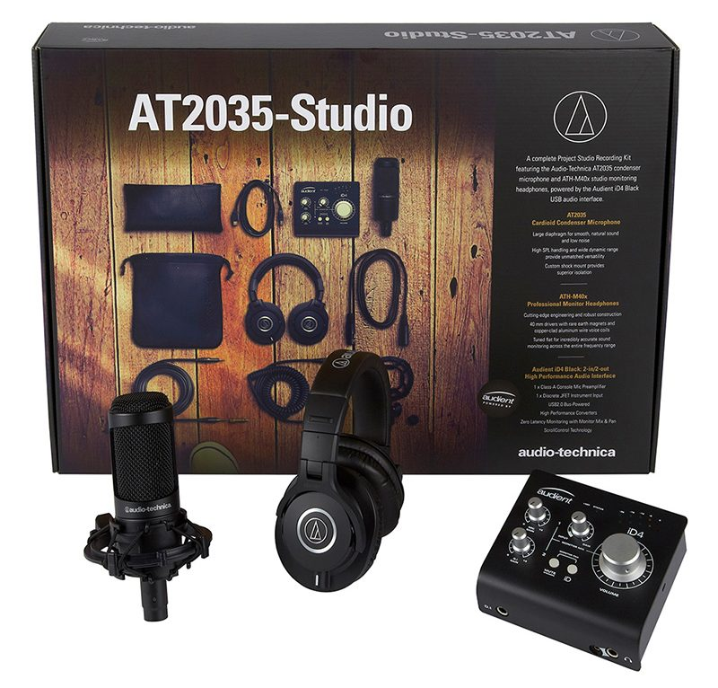 Audio-Technica y Audient se alían para proporcionar el Kit de Grabación para Home Studio definitivo